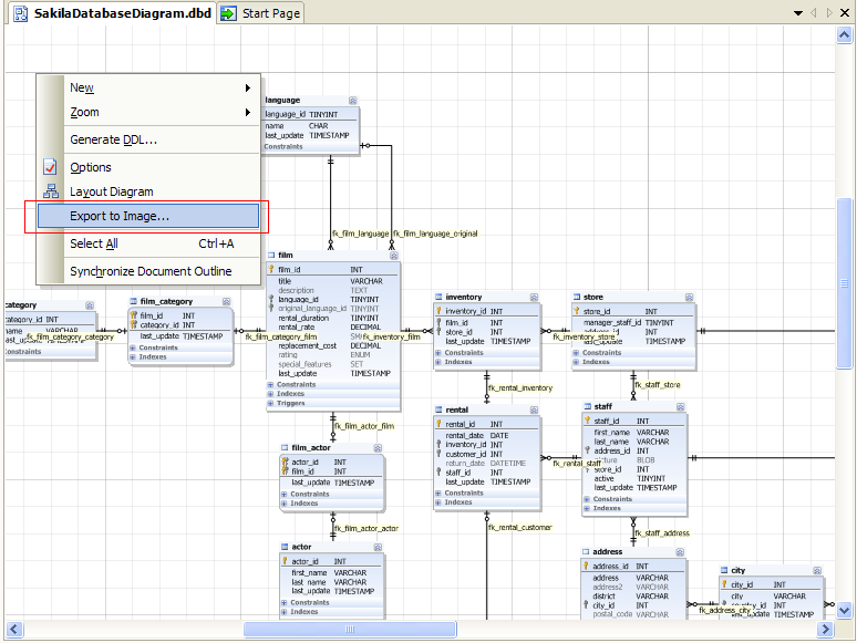 How to save database diagrams as an image step 1 ccuart Gallery