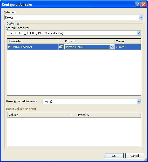 Configure Behavior Dialog Box