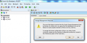 Oracle SQL Developer: Database Diff requires Oracle Change Management Pack be licensed
