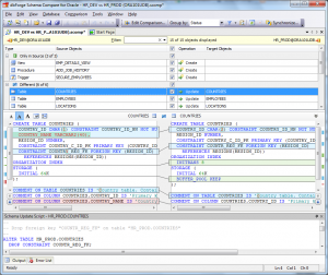 dbForge Schema Compare for Oracle: Schema Comparison Document