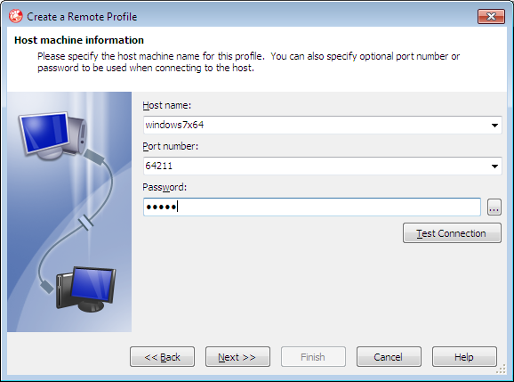 Creating remote profile 2