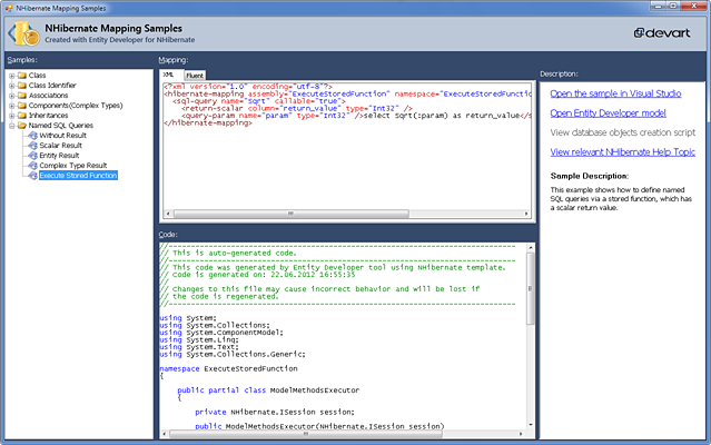 NHibernate Mapping Samples screenshot