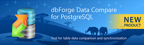 dbForge Data Compare for PostgreSQL