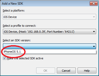 Add a new SDK