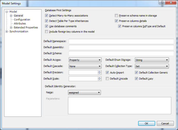 Default Enum Storage in Model Settings