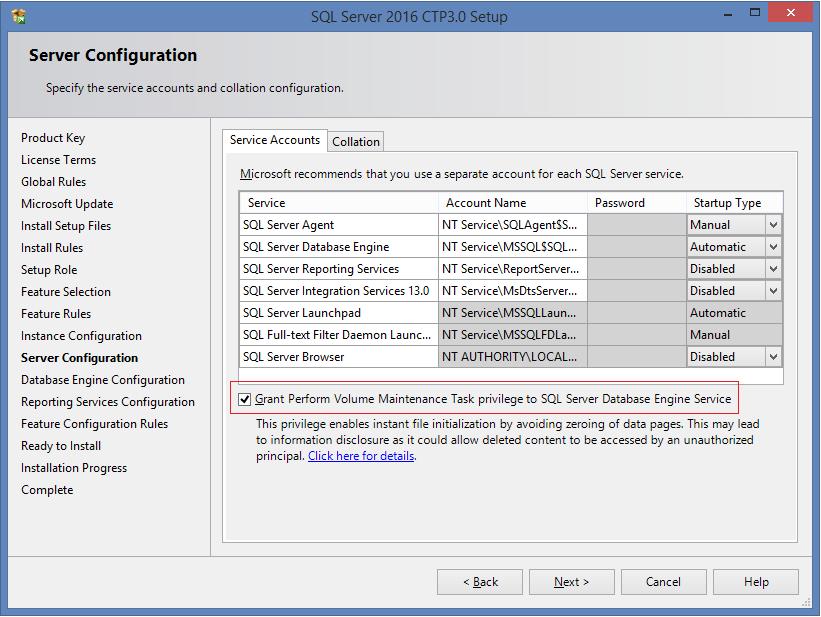 SQL Server 2016 installation