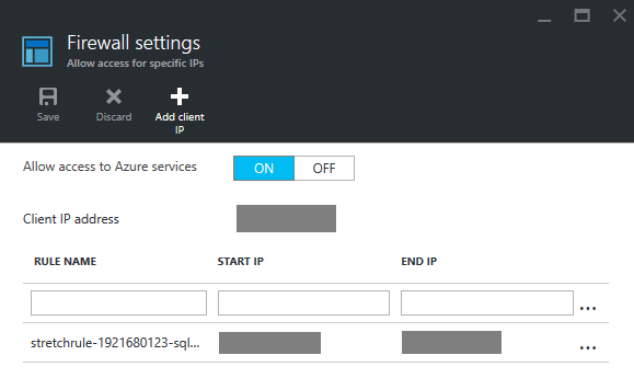 Allowing access to Azure services