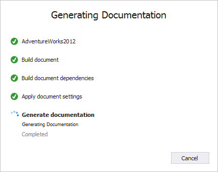 Generation of documentation