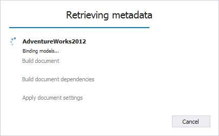 Retrieving metadata from database