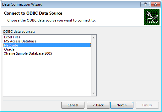 How to import data to Excel using ODBC
