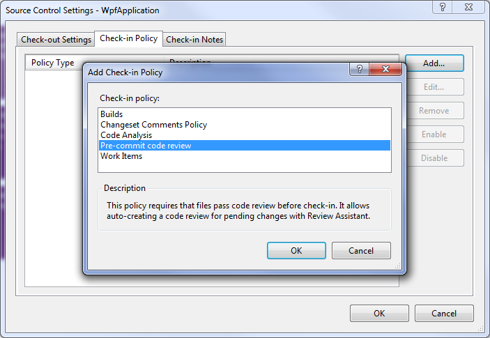 Creating TFS Custom Check-in Policy – Part 1