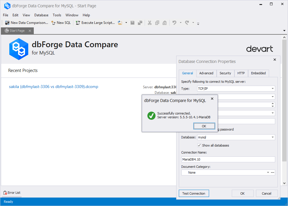 dbForge tools for MySQL now have support for MariaDB 10.4.