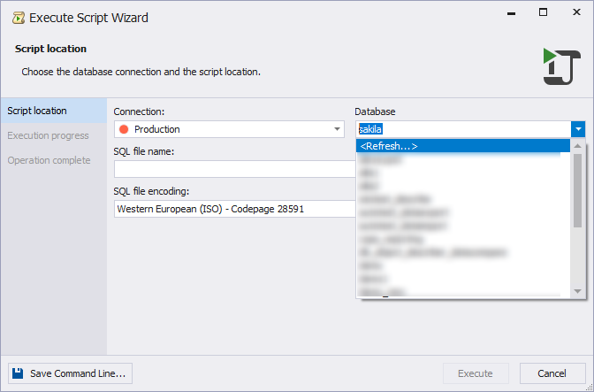Redisgned and improved Execute Large Script Wizard