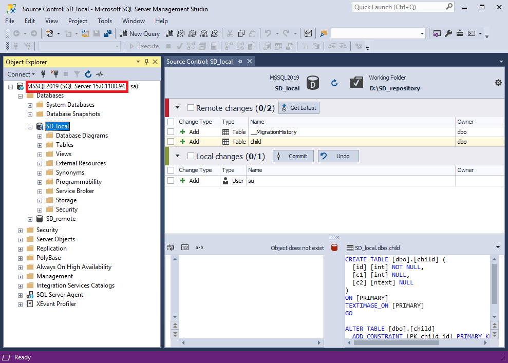 Connection to the latest SQL Server 2019