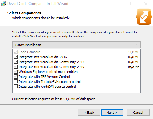 How to compare and merge source code in Visual Studio 2019