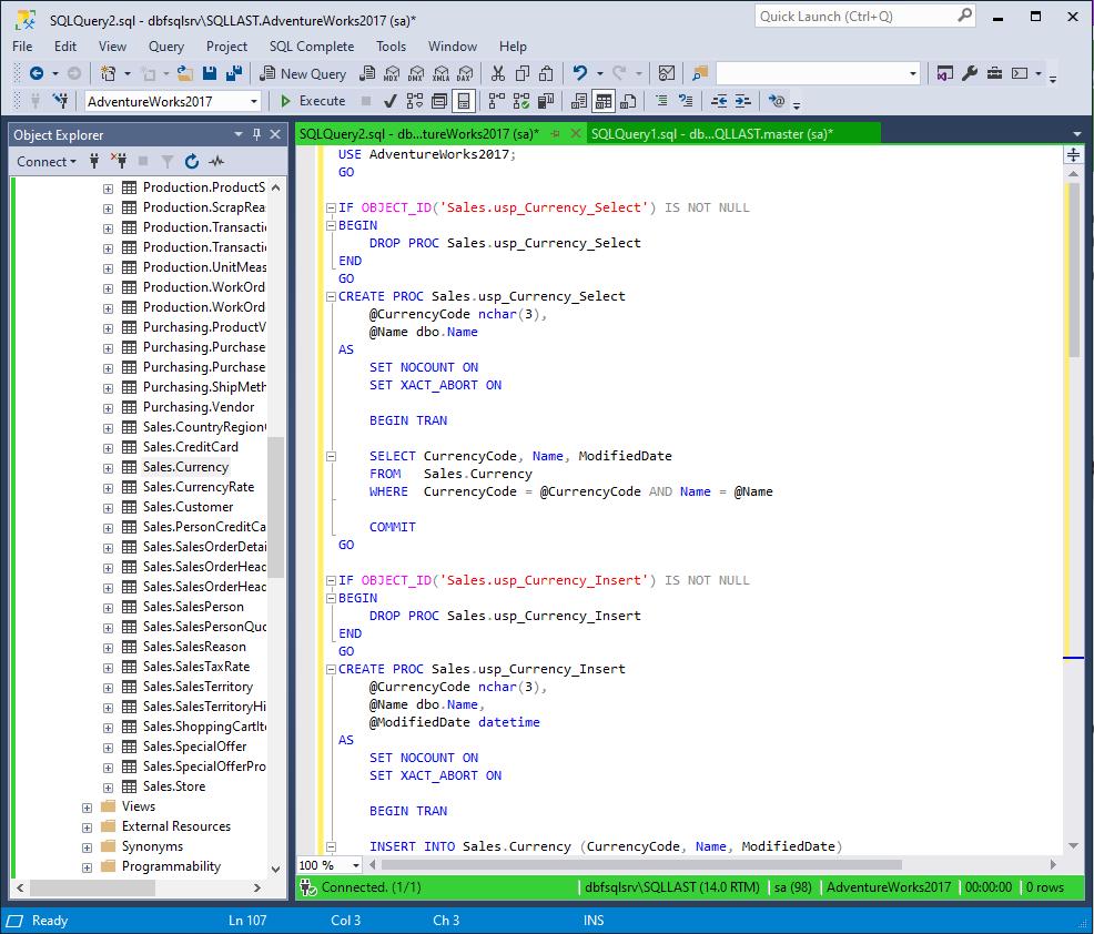 Generated CRUD Code