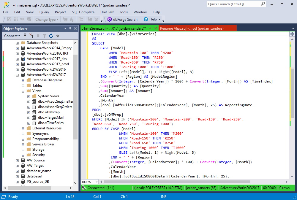 The Default profile in SQL Complete 6.3