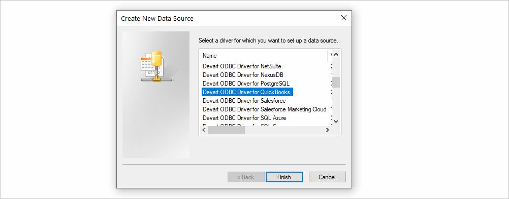 Create New Data Source for QuickBooks