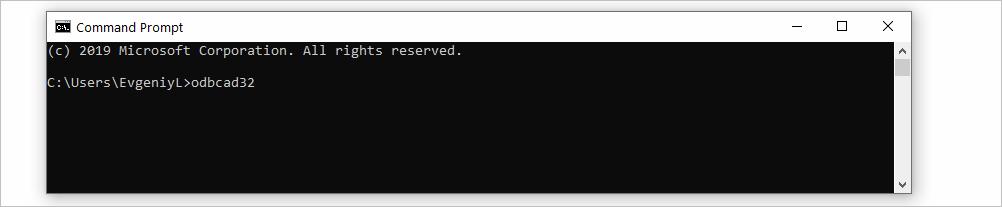 ODBC Data Source Run CMD