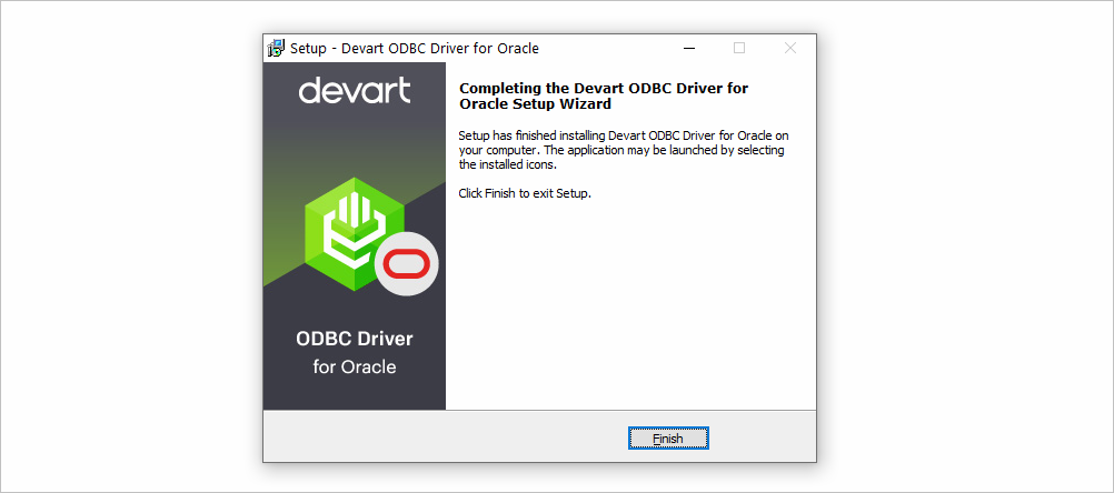Finish Installation of ODBC Driver for Windows
