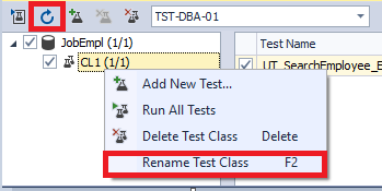 You can rename the test class within the dbForge Unit Test tool