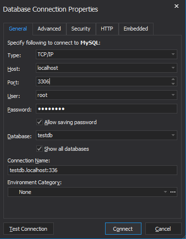 Connect to your MariaDB database via dbForge Studio for MySQL